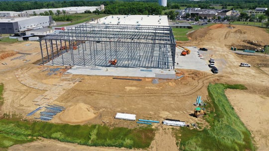 This picture by Arco Design/Build shows progress on a $25 million expansion at the Hager Hinge plant in Montgomery.