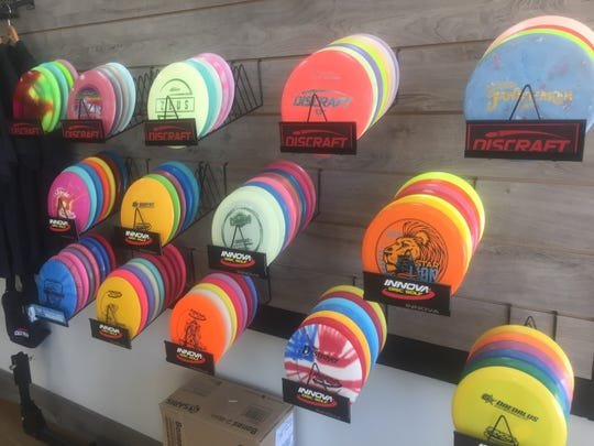 Golf discs are also sold at Rusty Spokes Bike Co. in Pataskala.