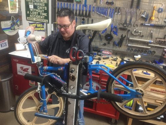 Nick Matheny said Rusty Spokes prides itself on quick turnarounds for bicycle repairs. The shop also offers safety checks for bikes that might have been assembled by other vendors.