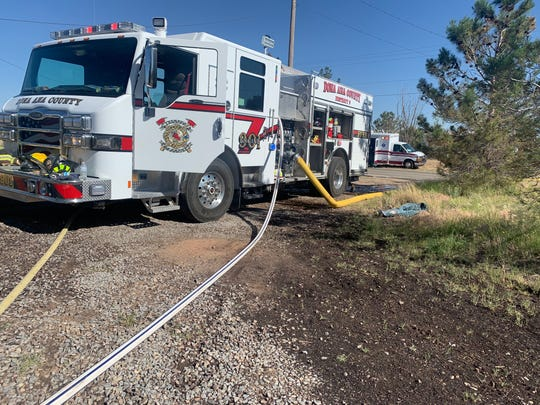 Doña Ana County Fire & Emergency Services extinguished a fire in the 400 block of Paseo Real Drive in Chaparral on Tuesday, May 5, 2020.