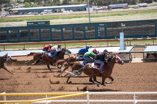 The seventh heat in Day 1 of the Schooling Works at the Ruidoso Downs on May 6, 2020 had the three fastest times of the day. Sophia Maria won the 250-yard race with a time of 13.516 seconds.