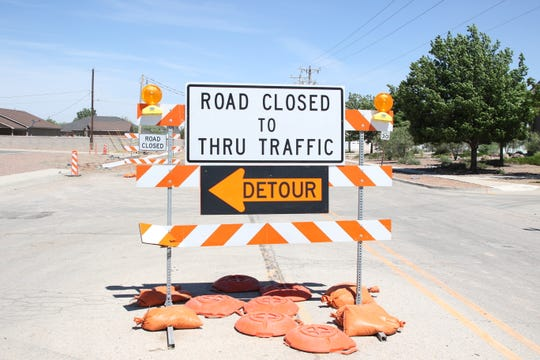 A traffic barricade stands at the intersection of Hermosa Drive and 26th Street in Artesia on May 7, 2020. More barricades are coming as construction is set on multiple projects in Eddy County.