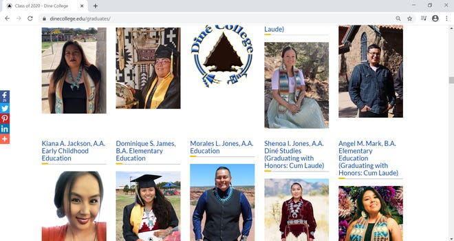 Diné College announced it would confer a record 53 bachelor's degrees on Friday and feature more than170graduates on its website for about a month.