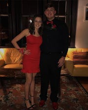 Cedar Crest seniors Regan Vukovich (left) and Cade Rambler went to the King of Hearts dance this year, but they likely won't have a prom because of the novel coronavirus.