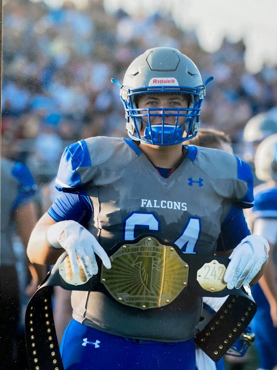 Cedar Crest senior Cade Rambler will take his lessons with the Falcons to play college football. When will the season start in college? It's not known yet.