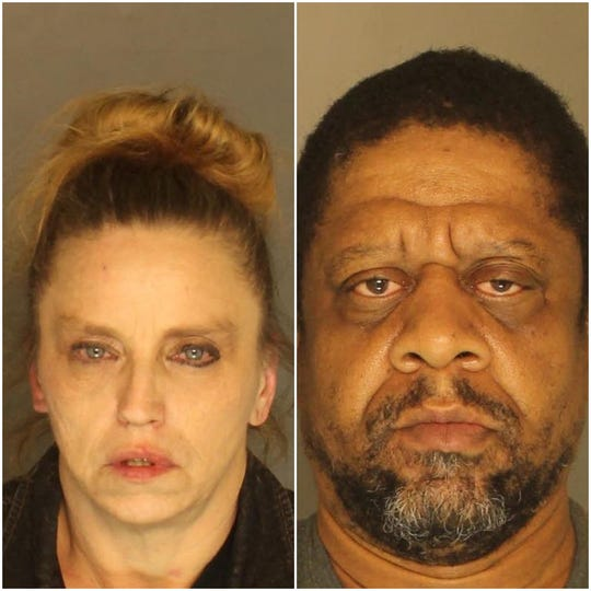 Annette Ramsey, left, charged with retail theft, criminal mischief and disorderly conduct. On the right is Victor Beaman, charged with criminal conspiracy to commit retail theft, recklessly endangering another person, reckless driving and disorderly conduct.