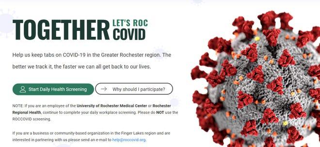 ROC COVID homepage