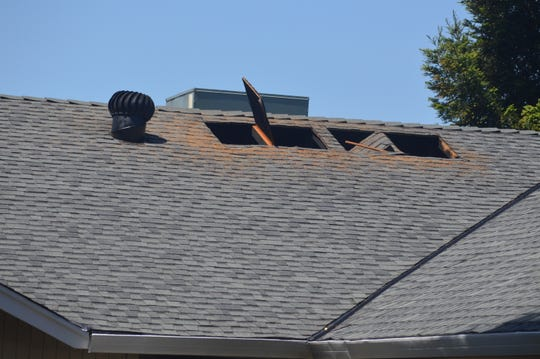 The attic of a house on the 800 block of Springer Drive was damaged from a fire on May 7, 2020.