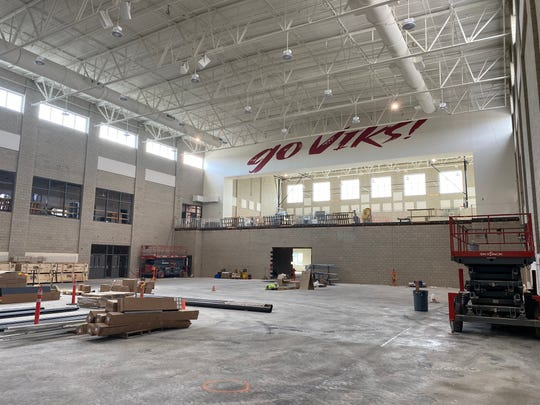 A look at the progress being made with the new North Salem High School gym.