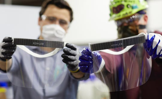 Kohler Co. is creating face shields for health care workers fighting the coronavirus pandemic.
