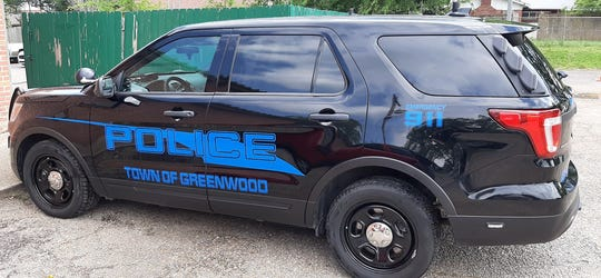 Pictured is an undated photo of a Town of Greenwood police car.