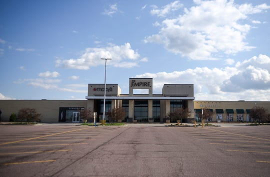 Empire Mall prepares to reopen on Friday after closing its doors to prevent the spread of the coronavirus on Wednesday, May 6, 2020 in Sioux Falls, S.D.