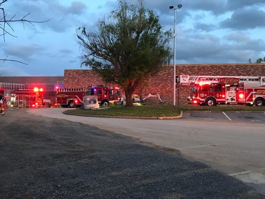 Firefighters responding to a fire at Staunton High School around 8:30 p.m. May 6, 2020.