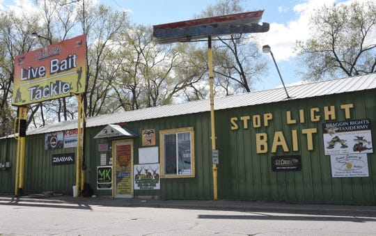 Stop Light Bait is pictured Wednesday, May 6, 2020, in St. Cloud. Bait shops have seen steady business and plenty of new anglers as the fishing opener approaches on Saturday.