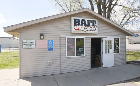 Bait Den is pictured Wednesday, May 6, 2020, in St. Cloud. Bait shops have seen steady business and plenty of new fishermen as the fishing opener approaches on Saturday.