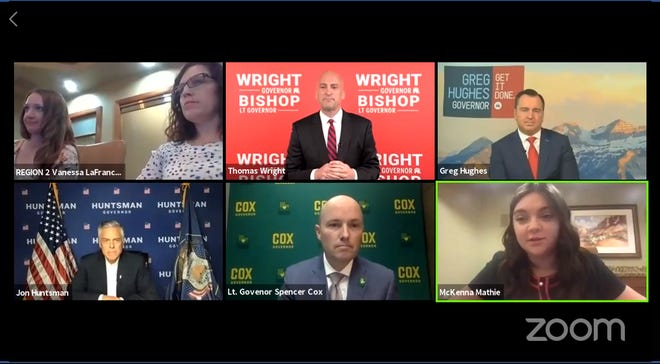 The four Republican gubernatorial candidates participated in a virtual debate hosted by the group Washington County Republican Women on Thursday.