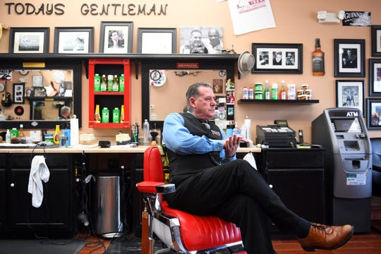 """Scott Young, owner and operator of The Hair Shop for Men in Indian River County, believes barber shops and salons should be allowed to operate during the Phase 1 Plan outlined by Gov. Ron DeSantis to reopen Florida's economy. Young opened his barber shop on May 1. """"The Vero Beach Police Department has gone and shut all the barber shops down. Do I surmise the Indian River County Sheriff's Office is going to do the same? Yes,"""" Young said."""
