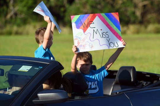 """Indian River schools hosted a """"Drive By and Say Hi' pep rally May 1, 2019. District officials are planning for summer school to be held virtually."""