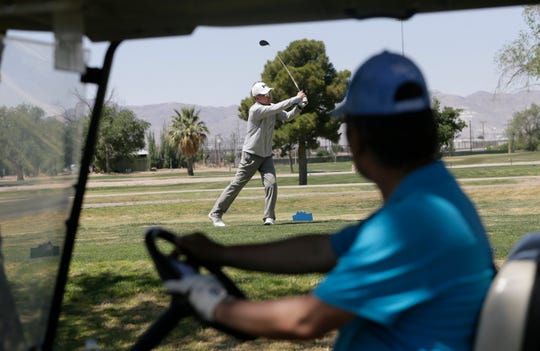 Ascarate Golf Course along with courses across El Paso reopened recently. Thursday golfers swarmed Ascarate Gold Course, some wearing protective masks as they played. Ascarate is staggering tee times every 45 minutes as mandated by the county.