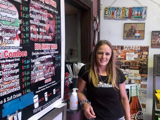 Shelly Spivey owns the restaurant Daisy Dukes in Caldwell, Texas.