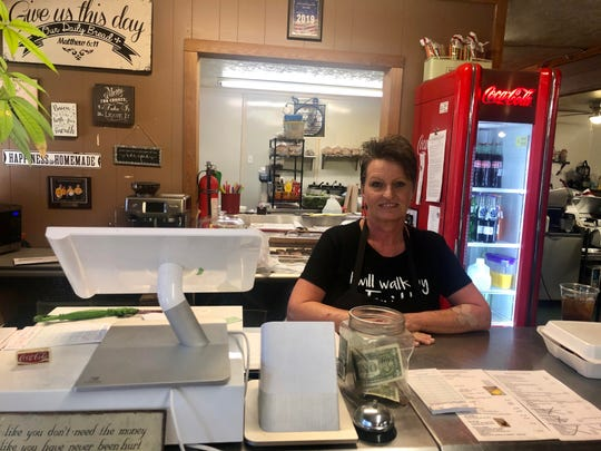 Michelle Boyd is the owner of the Garden Spot Cafe in Caldwell, Texas.