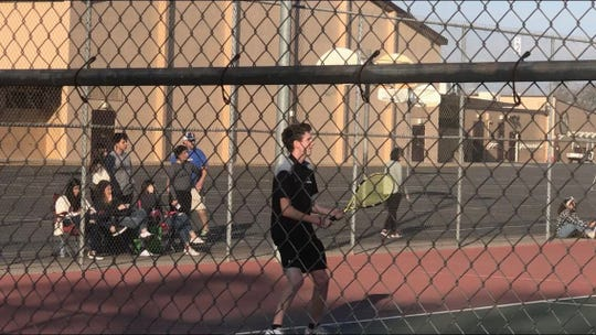 Peyton Ray is a senior on the Mt. Whitney High School boys tennis team.