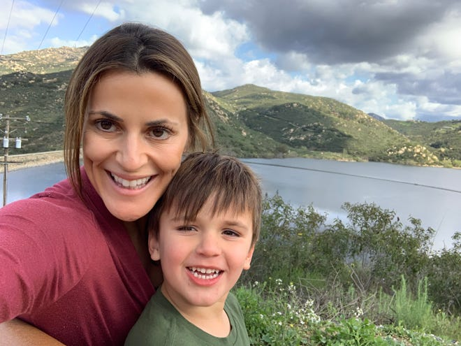 Jerusha Basinger with her 4-year-old son.
