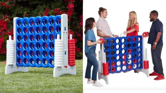 Connect 4 is more fun supersized.