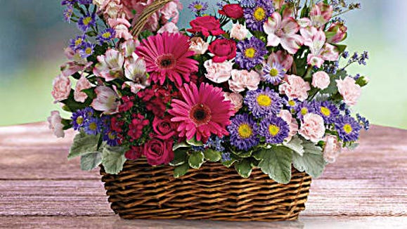 Extra touches, like this natural basket, are included.