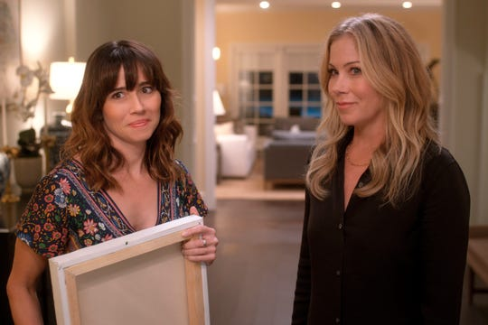 Judy (Linda Cardellini, left) and Jen (Christina Applegate) are hiding a major secret in Season 2 of Netflix's