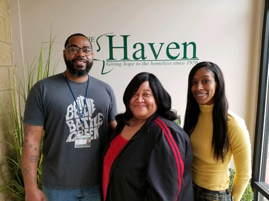 From left, Rodrico Blackman, LaRhonda Wilson and Lola Hatcher are case managers from The Haven of Rest who are working with people to prevent evictions.