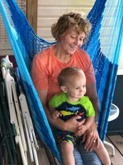 Linda Macbeth and her grandson, Levi.