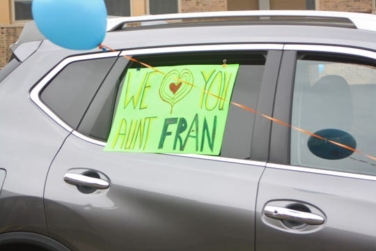 Friends and family of Fran Davis held a birthday parade outside her room at Hilltop Campus in Johnson City in honor of her 88th birthday on May 8, 2020.