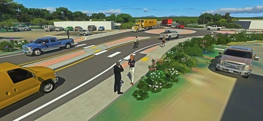 The Washington State Department of Transportation is soliciting comments on a plan to put a single-lane roundabout at the intersection of Bay Street (Highway 166), Beach Drive and Maple Street, as shown in this illustration. Comments are due by May 12.