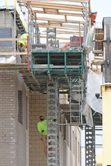 Wynford's new junior high and high school building is a couple of weeks behind schedule.