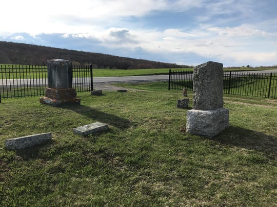 A Franklin County cemetery on Thursday, May 7, 2020.