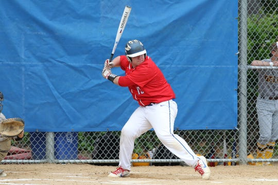 Triton's Matt Woods bats against Delran in the opening round of the Diamond Classic last spring.