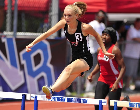 Cinnaminson's Meredith Updike has set five school records for the Pirates' girls' track and field team during her career.