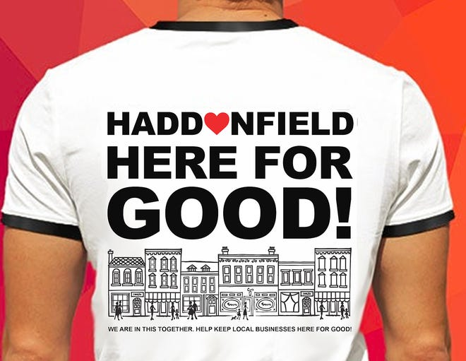 The public can buy these T-shirts online to help Haddonfield's small struggling retail  businesses negatively impacted by statewide stay-at-home and business closure orders imposed to help curb the spread of the coronavirus.