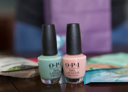 Nail polish is among several of the item sent to Livia through the adopt a senior Facebook site. She has had five people adopt her with one being an unknown family from West Virginia.