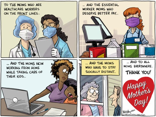 Happy Mother's Day to all the moms during these pandemic times.
