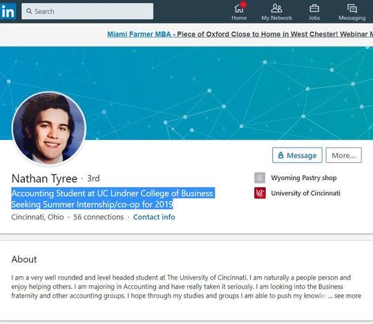 Nathan Tyree's LinkedIn profile