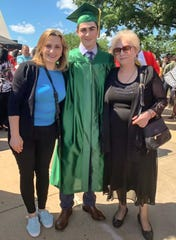 Nani Gurgenidze, her son, Luka and her mother, Liana at Luka's 2019 JP Stevens High School graduation