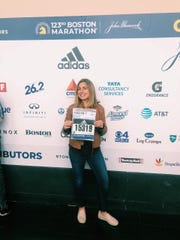 Rachel Belmont at the Boston Marathon