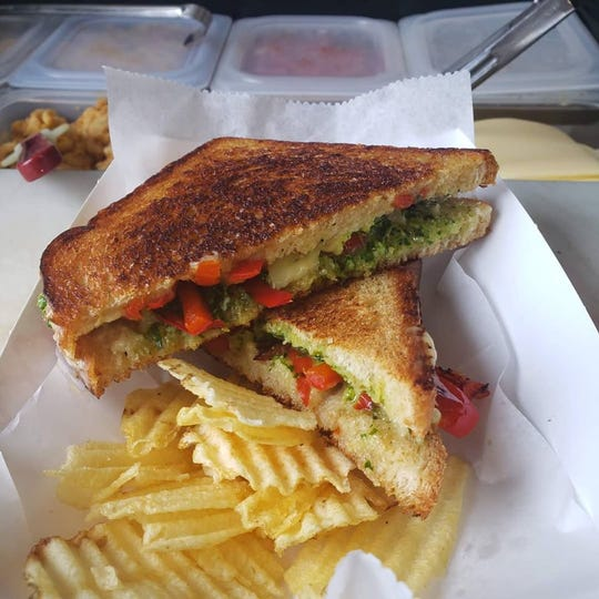 A vegan sandwich from Nosh Pit in Hamtramck.