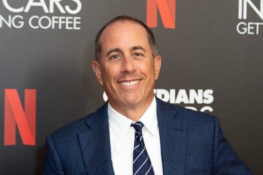 """FILE - This July 17, 2019 file photo shows Jerry Seinfeld at the """"Comedians In Cars Getting Coffee,"""" photo call in Beverly Hills, Calif."""