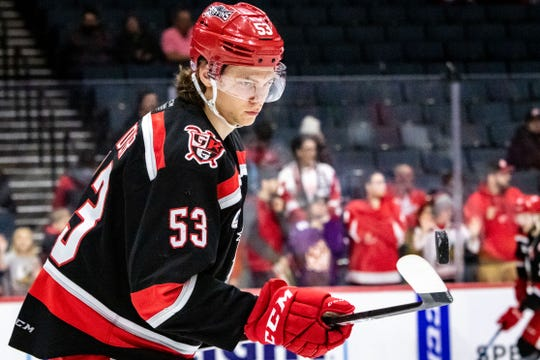 Moritz Seider, the Red Wings' first-round draft pick in 2019, played 49 games for the Griffins this season.