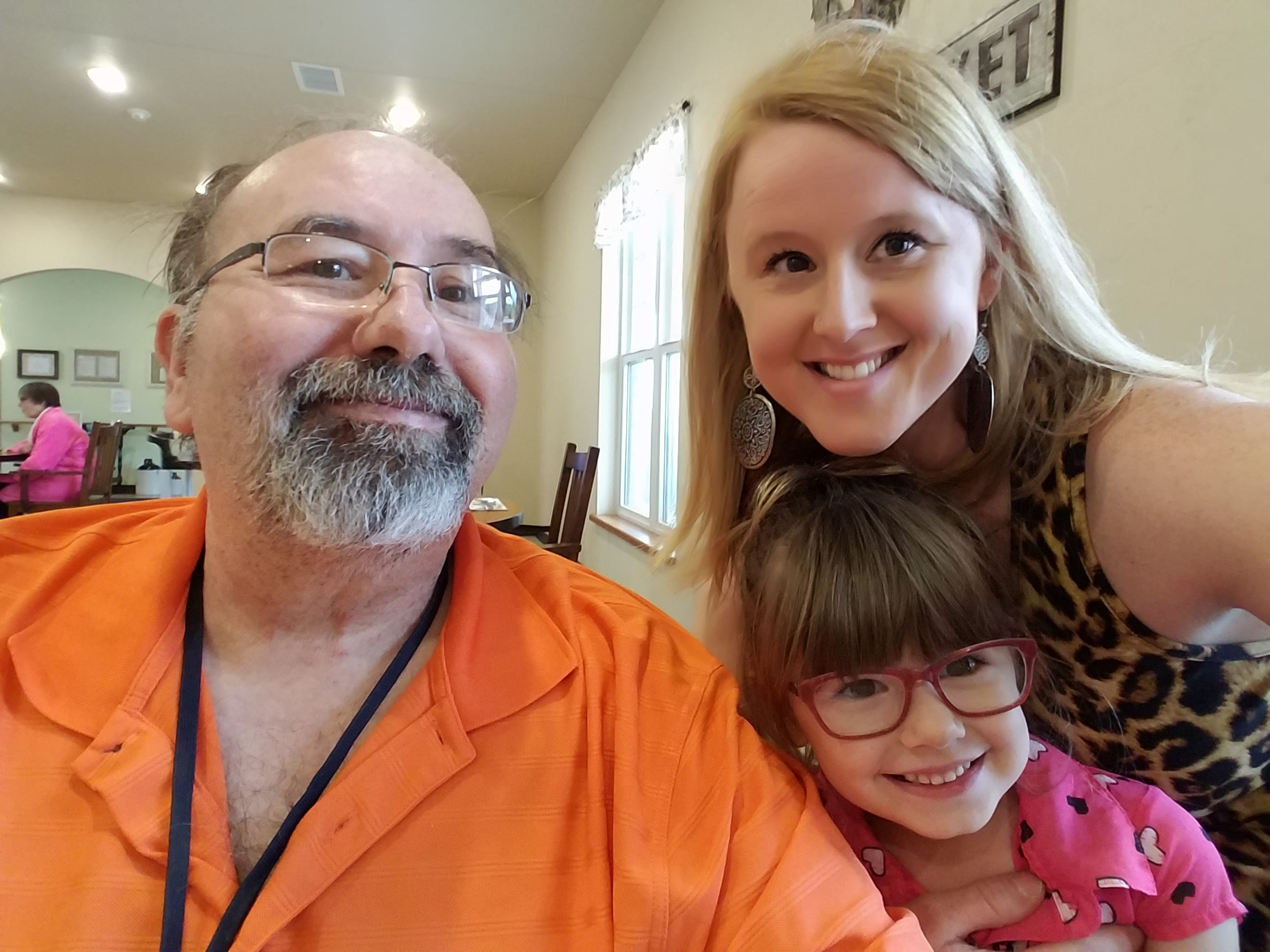 Randy Wichlacz with his daughter, Kimberly, and his granddaughter, Cassidy.