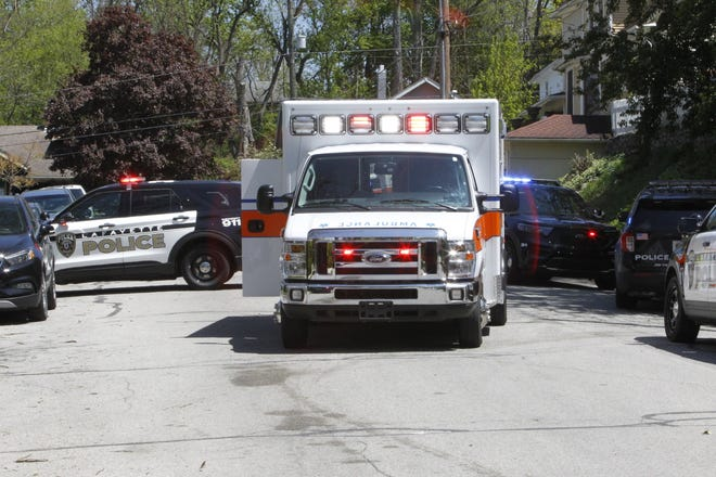 Police and paramedics were dispatched to the 600 block of Romig Street at 2:20 p.m. Friday, May 8, 2020, with the report of a man shot. Police are investigating.