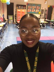 """Patricia Onyejekwe teaches first grade at Samuel J. Green Charter School in New Orleans. She is one of thousands of teachers to be """"adopted"""" through a Facebook group honoring educators for Teacher Appreciation Week during quarantine."""